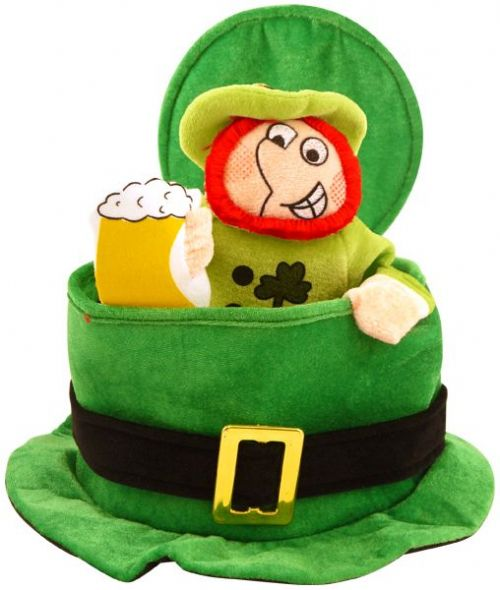 St Patricks Day Novelty Irish Leprechaun Hat for Funny Green Ireland Fancy Dress Accessory
